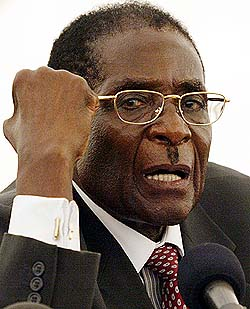 Robert Mugabe the dictator of Zimbabwe