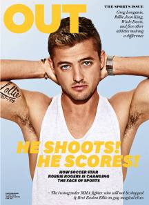 Robbie Rogers Out Magazine cover photo huge July 2013